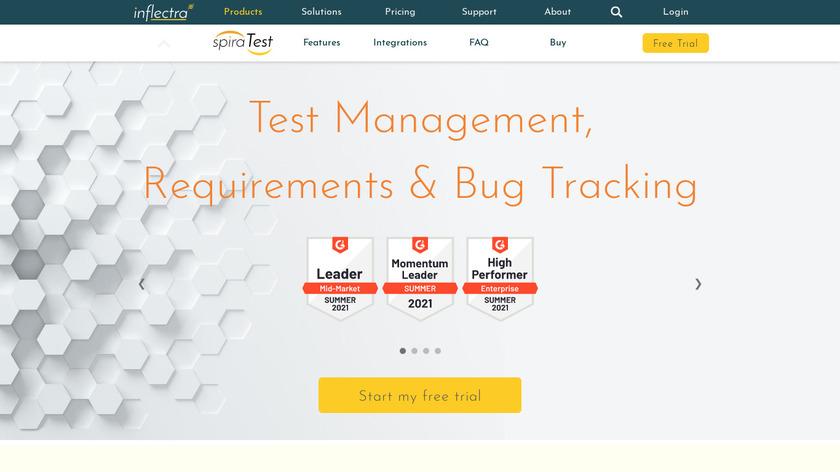 SpiraTest Landing Page