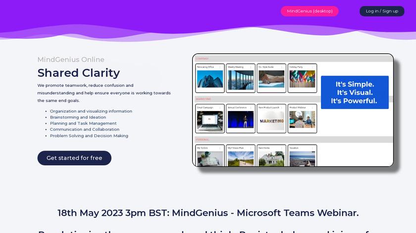 MindGenius Landing Page