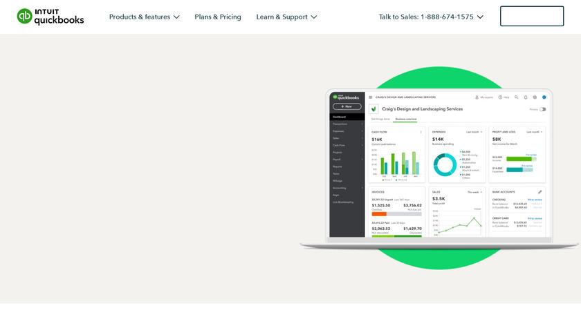 QuickBooks Online Landing Page