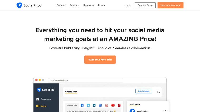 SocialPilot Landing Page
