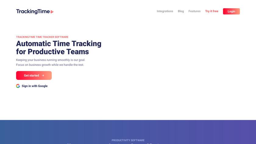 TrackingTime Landing Page