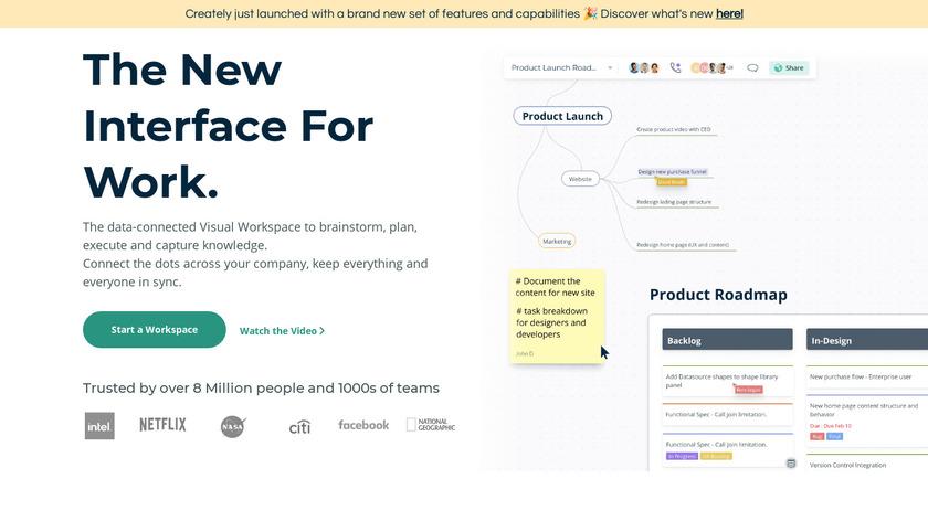 Creately Landing Page