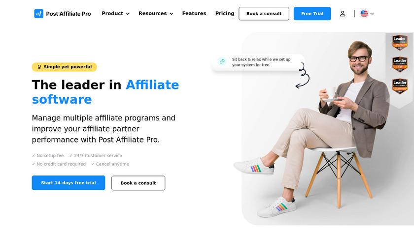 Post Affiliate Pro Landing Page
