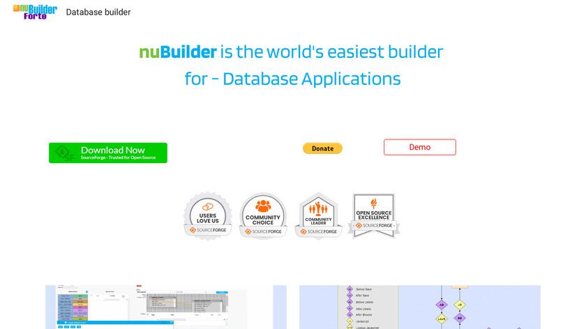 nuBuilder Forte Landing Page