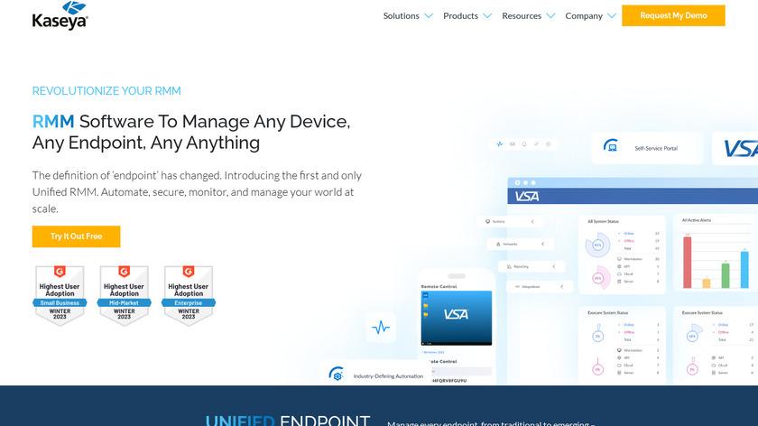 Kaseya VSA Landing Page
