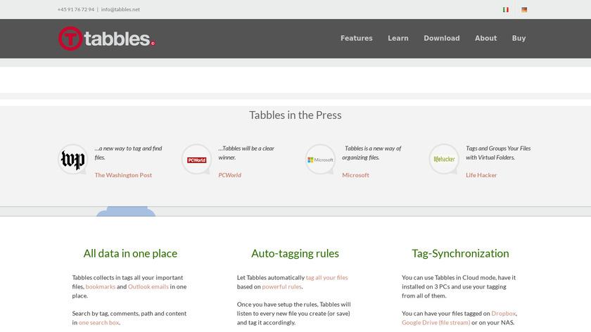 Tabbles Landing Page