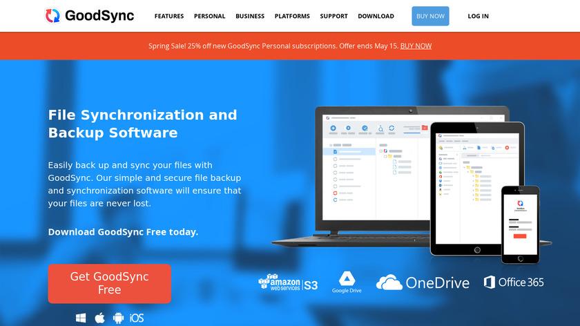 GoodSync Landing Page