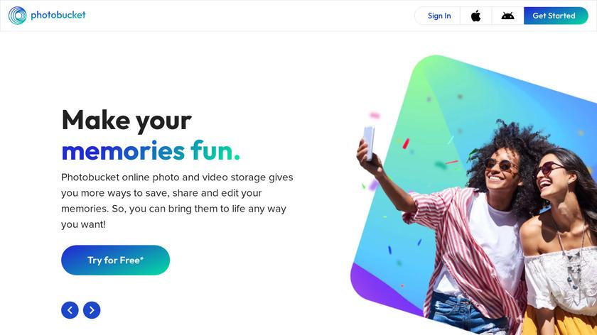 Photobucket Landing Page