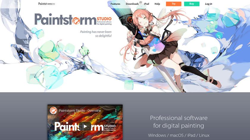 Paintstorm Landing Page