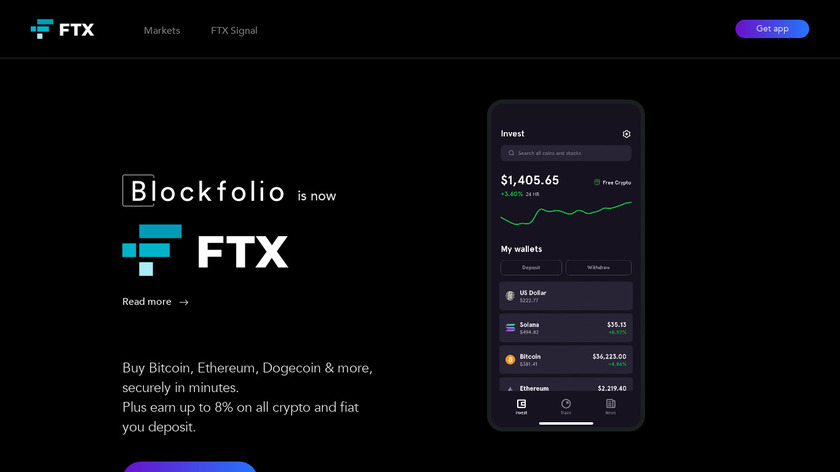 Blockfolio Landing Page