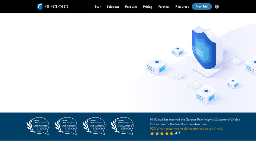 FileCloud Landing Page