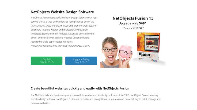 NetObjects Fusion Landing Page