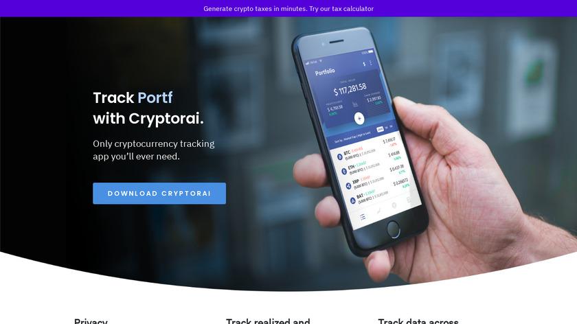 Cryptorai Landing Page