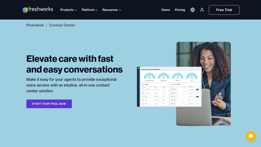 Freshcaller Landing Page