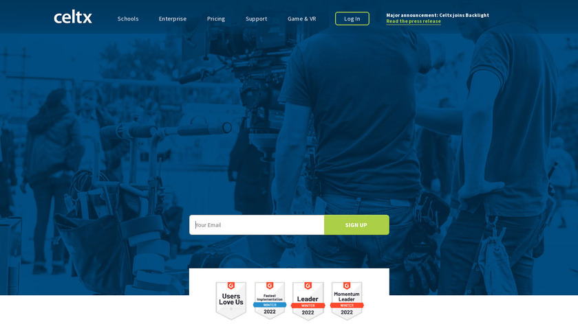 Celtx Landing Page