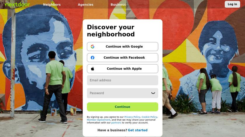 Nextdoor Landing Page