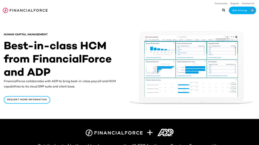 FinancialForce HCM Landing Page