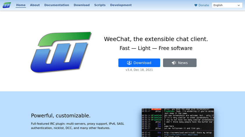 WeeChat Landing Page