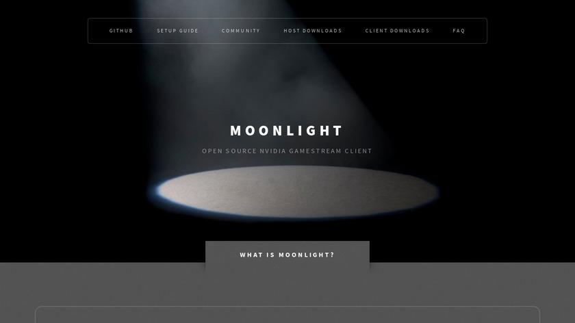 Moonlight Game Streaming Landing Page