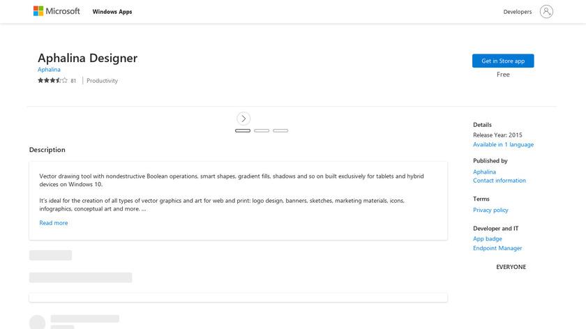 Aphalina Designer Landing Page