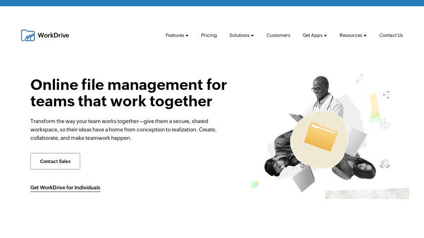 Zoho Docs Landing Page