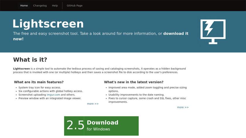 Lightscreen Landing Page