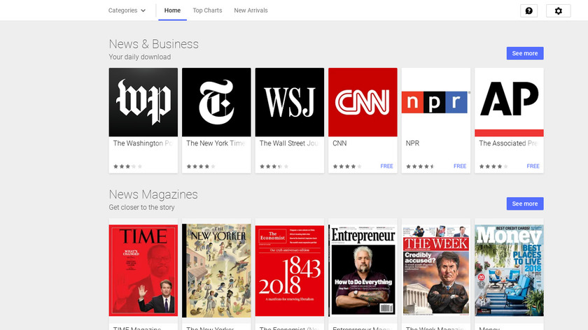 Google Play Newsstand Landing Page
