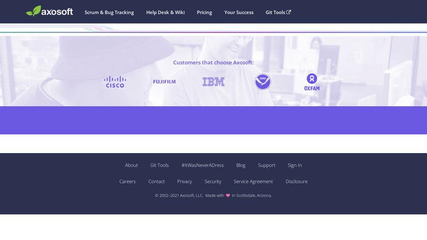 Axosoft Landing Page