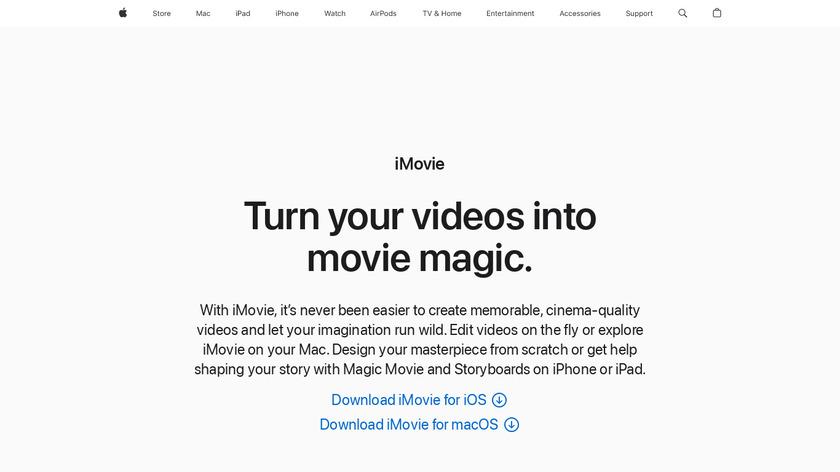 iMovie Landing Page