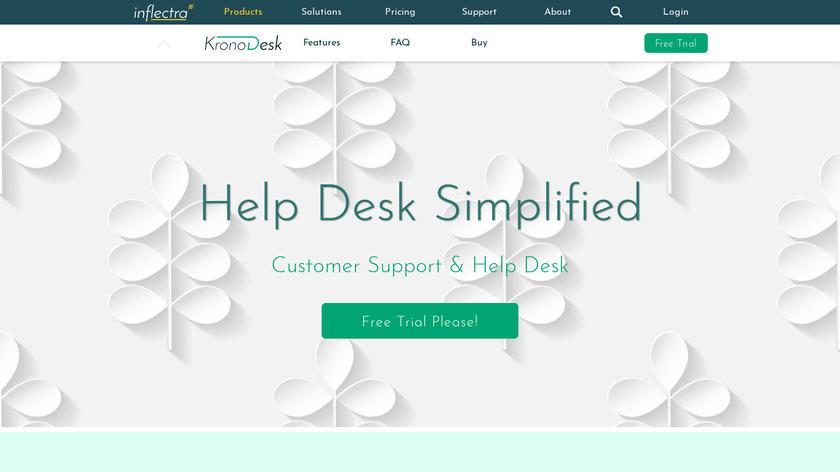 KronoDesk Landing Page