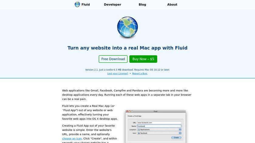 Fluid Landing Page