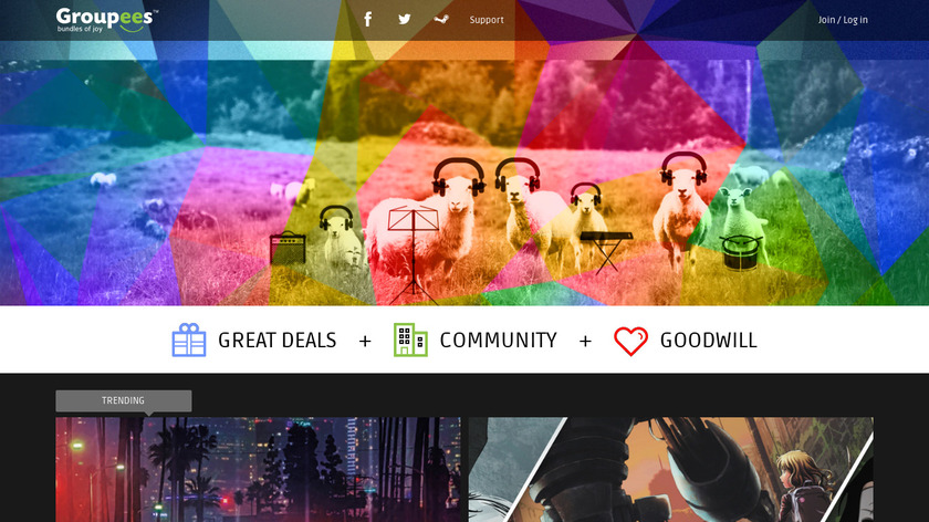 Groupees Landing Page