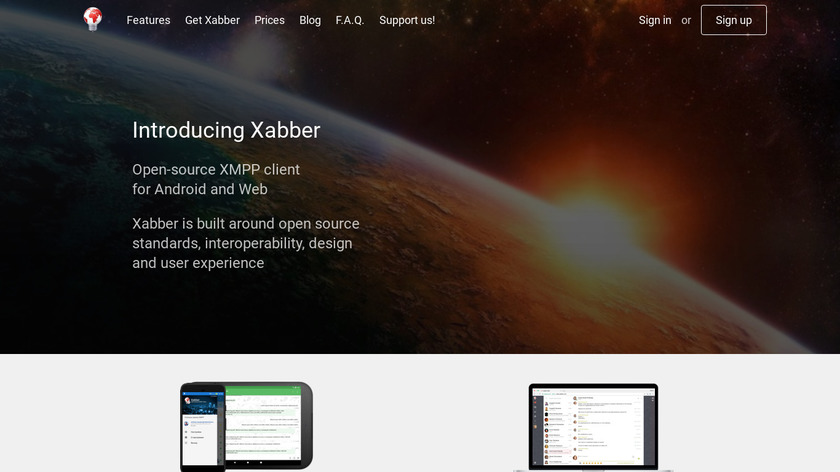 Xabber Landing Page