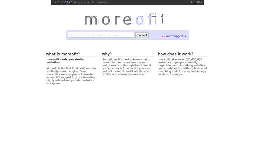moreofit.com Landing Page