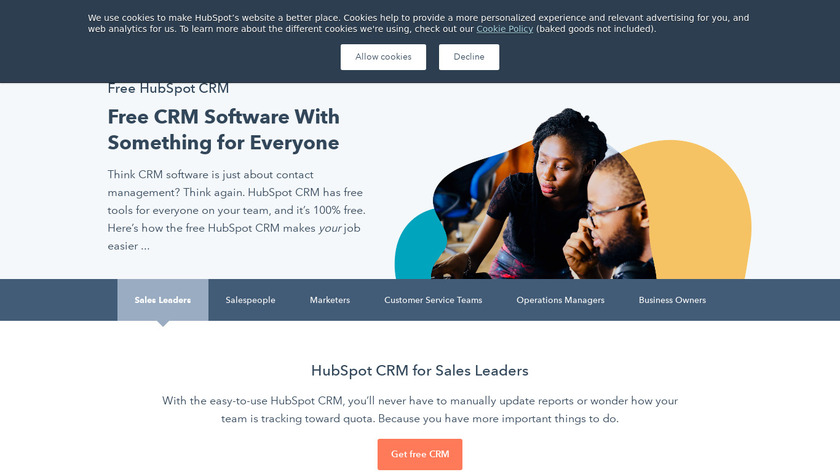 HubSpot CRM Landing Page