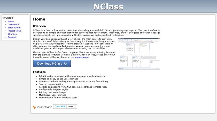 NClass Landing Page