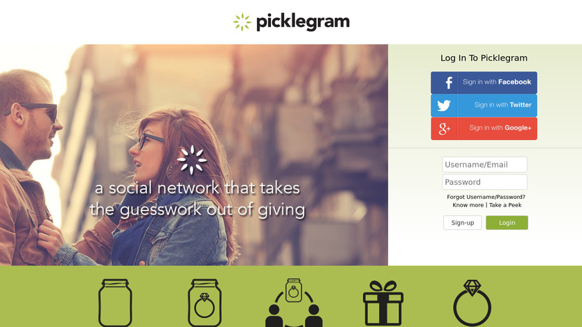 Picklegram Landing Page