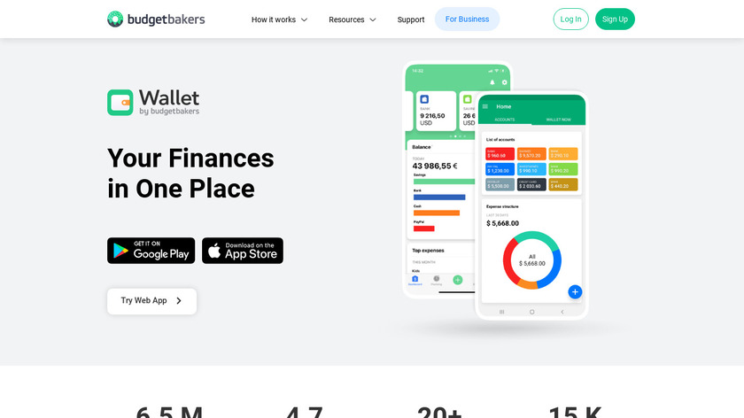 BudgetBakers Landing Page