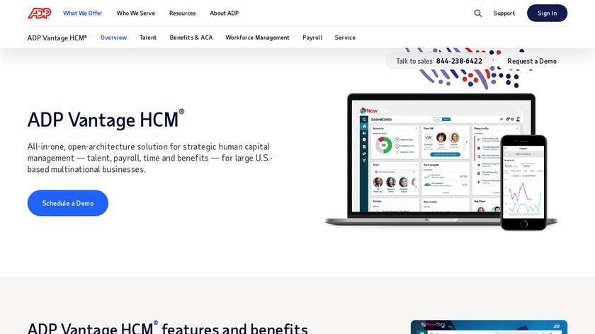 ADP Vantage HCM Landing Page