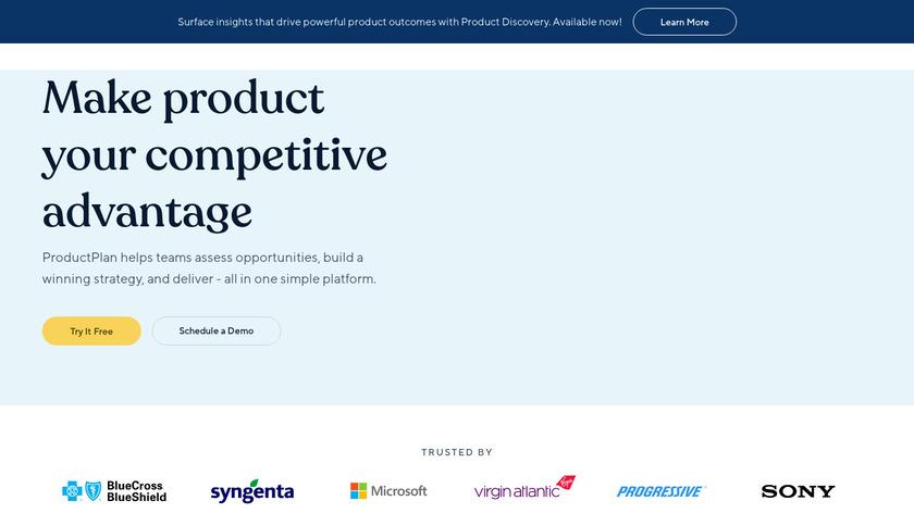 ProductPlan Landing Page
