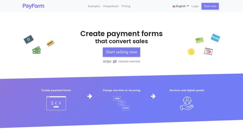 PayForm Landing Page