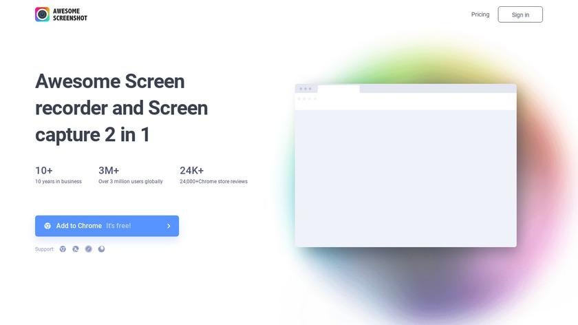 Awesome Screenshot Landing Page