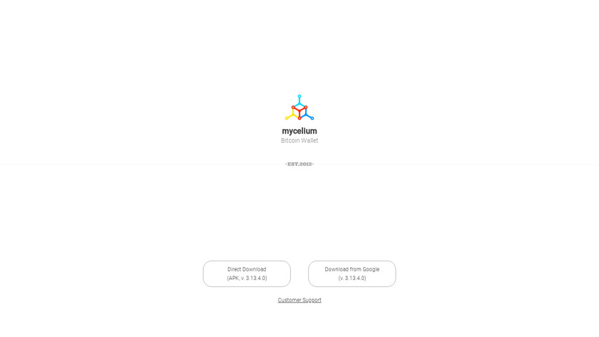 Mycelium Bitcoin Wallet Landing Page