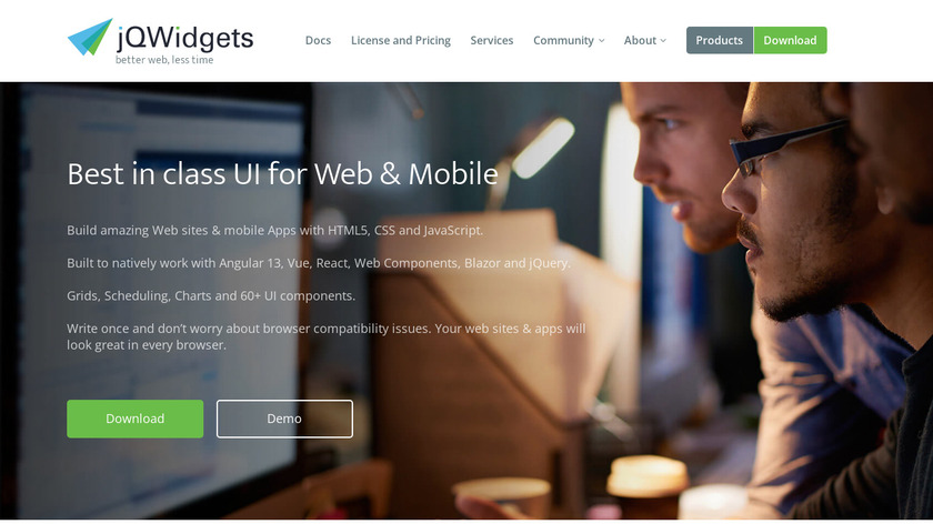 JQWidgets Landing Page
