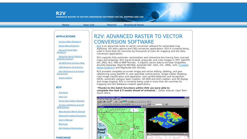 R2V Landing Page