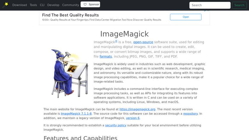 ImageMagick Landing Page