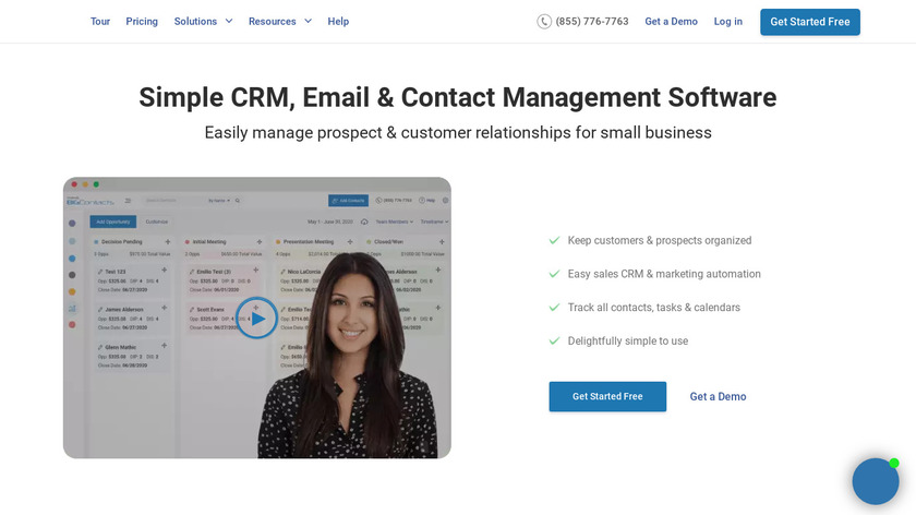 Big Contacts Landing Page