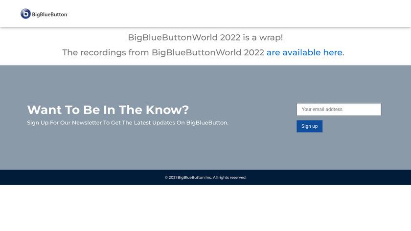 BigBlueButton Landing Page