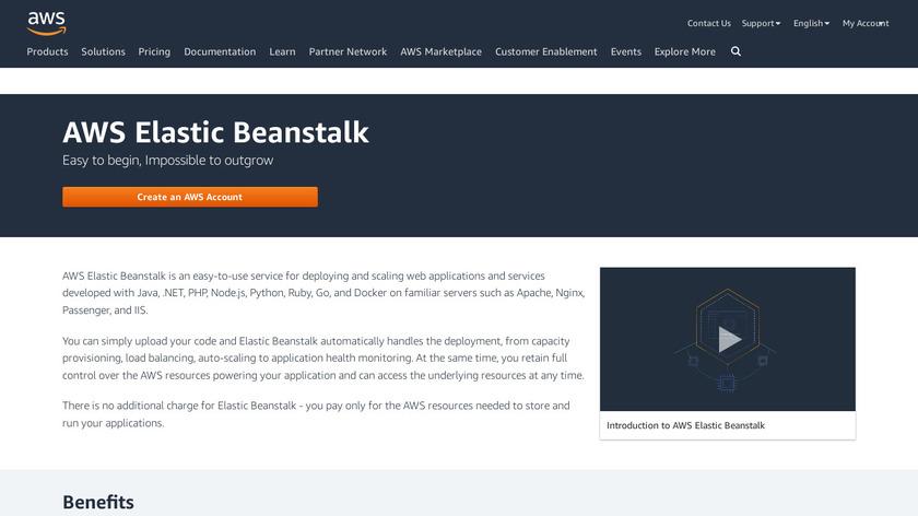 AWS Elastic Beanstalk Landing Page