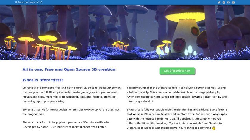 Bforartists Landing Page